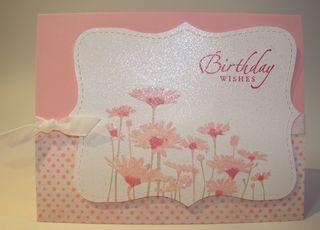 tutorial upsy daisy pretty in pink birthday card  my country loft, Birthday card