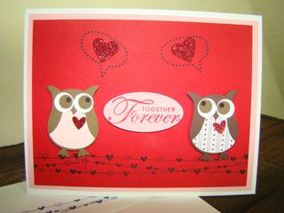 Owl Anniv Card - Red Dazzle CS