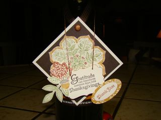 Wine gift tag close up