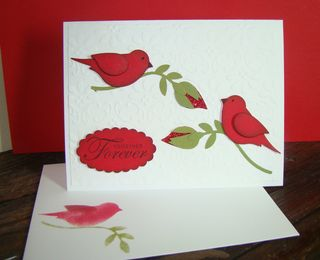 Bird Builder Punch Anniv Card