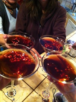 4 pomegranate martinis