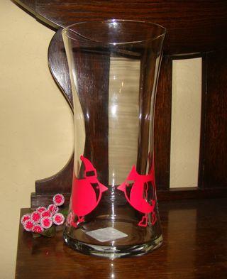 Cardinals-Decor Vase