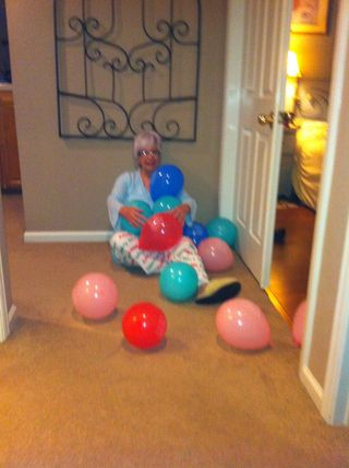 Birthday Girl & balloons