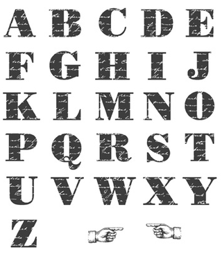 Morning Post Alphabet, 126590-W; 126592-C, p. 144