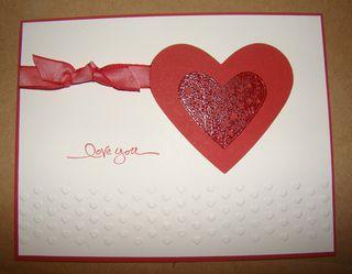 Finished LoveYou card