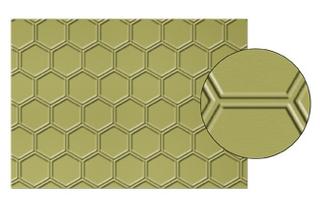 Honeycomb Text. Impr. Embossing Folder, 129378