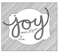 Cmas single-Joy gift tag, 134767