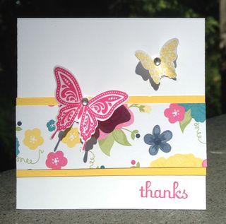 3 x 3 Papillon Butterfly card