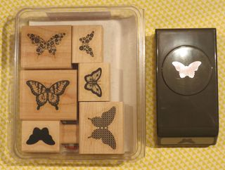 Papillon Potpourri Stamp Set:Bitty Butterfly Punch