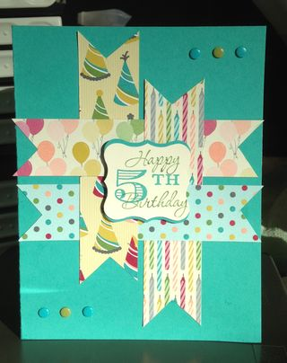 Landen's 5th b.d. card