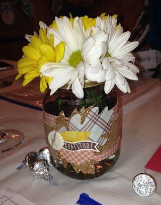 Gratitude jar-flower