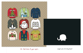 Spunky Sweater Greeting Card Templates