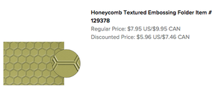 Honeycomb Text.Emb.Folder