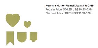 Hearts a Flutter Framelits