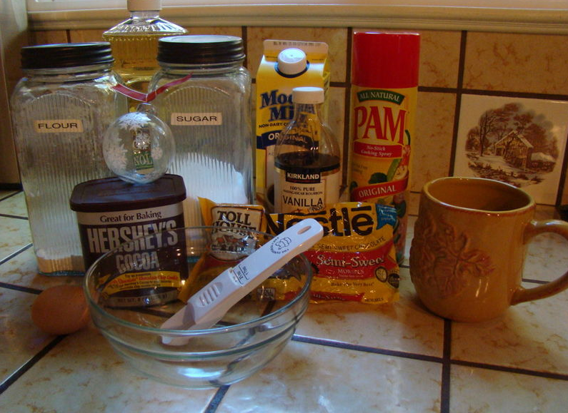 Cup of Chocolate Cake Ingredients