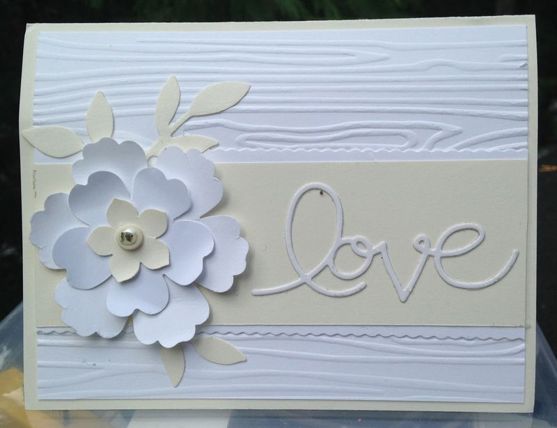 Love birthday card White:Vanilla