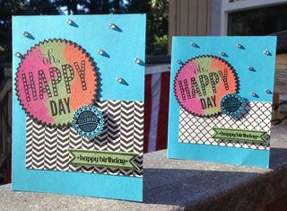 Pair of HAPPY DAY cards