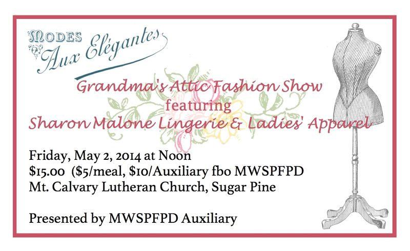 MWSPFPDA Fashion Show ticket