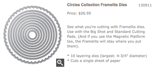 Circle Collection Framelits Dies, 130911, $26.95