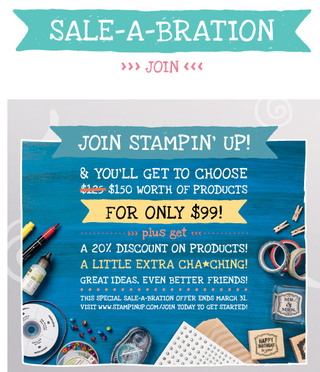 Become an SU! Demonstrator during Sale-a-Bration